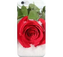 Rosa - Red Roses In Snow | Center Moriches, New York iPhone Case/Skin