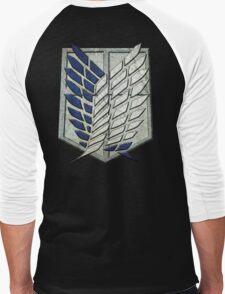 Attack on Titan (Shingeki no Kyojin) - Wings of Freedom Men's Baseball ¾ T-Shirt