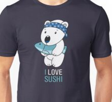 Japanese Sushi Bear Unisex T-Shirt