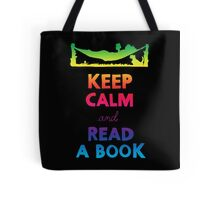 KEEP CALM AND READ A BOOK (RAINBOW) Tote Bag