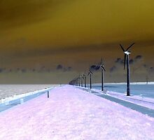 WIND TURBINES INVERTED  VISION by Johan  Nijenhuis