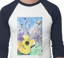 Guitar Notes Men's Baseball ¾ T-Shirt