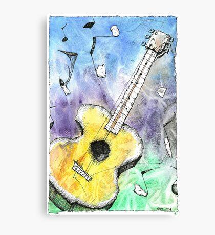 Guitar Notes Canvas Print