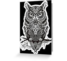 THE BLACK OWL Greeting Card