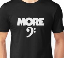 More Bass (Clef) White Unisex T-Shirt