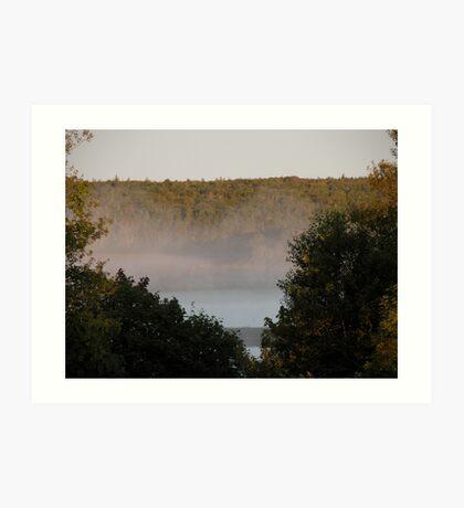 Mist on the Lake Art Print