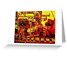 MARINE ENGINE Greeting Card