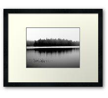 Spectacle Lake in Fog Framed Print