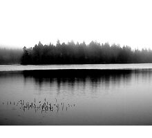 Spectacle Lake in Fog Photographic Print