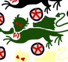 Three Dragons on the Shirt Sticker