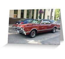 1966 Oldsmobile Cutlass Greeting Card