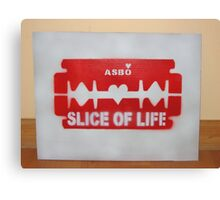 a free slice of my life (Free Art Friday) Canvas Print