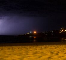 Lightning on Coogee by Dan Gallagher