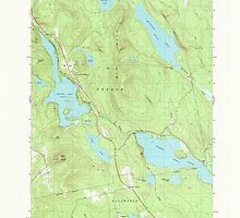 Maine USGS Historical Map Green Lake 105172 1982 24000 by wetdryvac