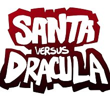 """Santa vs Dracula"" Graphic Novel logo by santavsdracula"