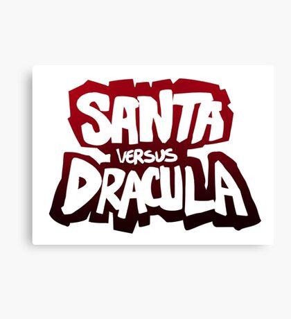 """Santa vs Dracula"" Graphic Novel logo Canvas Print"