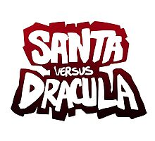 """Santa vs Dracula"" Graphic Novel logo Photographic Print"