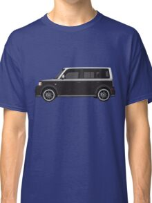Vectored Boxcar Two Tone Silver/Black Classic T-Shirt