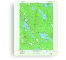 Maine USGS Historical Map Green Lake 806736 1982 24000 Canvas Print