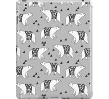 Polar Bear - Grey by Andrea Lauren iPad Case/Skin