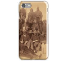 Buffalo soldiers of the 25th Infantry, some wearing buffalo robes, Ft. Keogh, Montana 1889 iPhone Case/Skin