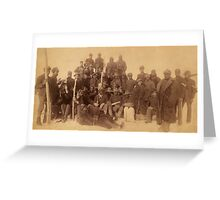 Buffalo soldiers of the 25th Infantry, some wearing buffalo robes, Ft. Keogh, Montana 1889 Greeting Card