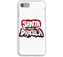 """Santa vs Dracula"" Graphic Novel logo iPhone Case/Skin"