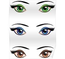 Cartoon female eyes 4 Poster