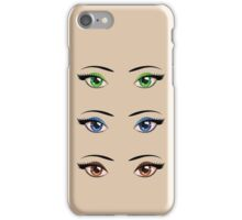 Cartoon female eyes 4 iPhone Case/Skin
