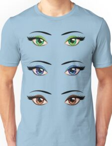 Cartoon female eyes 4 Unisex T-Shirt