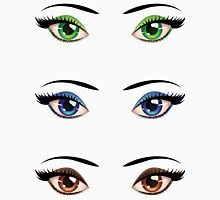 Cartoon female eyes 4 Unisex T-Shirt