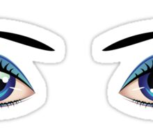 Cartoon female eyes 4 Sticker