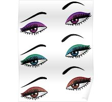 Cartoon female eyes 6 Poster