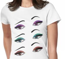 Cartoon female eyes 6 Womens Fitted T-Shirt