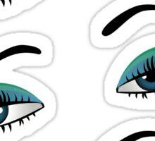Cartoon female eyes 6 Sticker