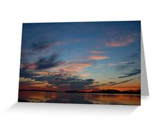 River Sunset Greeting Card