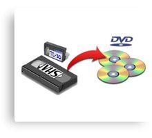VHS -> DVD Canvas Print