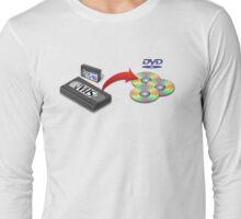 VHS -> DVD Long Sleeve T-Shirt