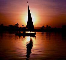 Feluca on the Nile  by Ed Barnett