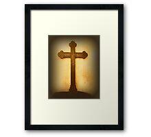 Wooden Altar Cross Framed Print