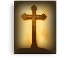 Wooden Altar Cross Canvas Print