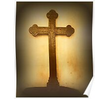 Wooden Altar Cross Poster
