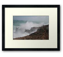 Wild seas. Framed Print