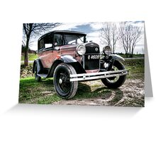 Classic Cars Ford - HDR Greeting Card