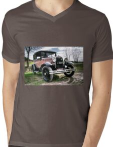 Classic Cars Ford - HDR Mens V-Neck T-Shirt