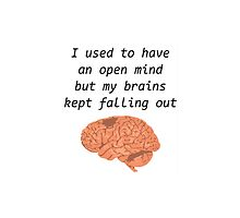 I used to have an open mind but my brains kept falling out by Bramble43