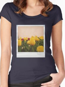 Yellow tulips 4 Women's Fitted Scoop T-Shirt