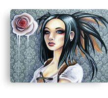 Wallpaper Flower Canvas Print
