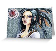 Wallpaper Flower Greeting Card