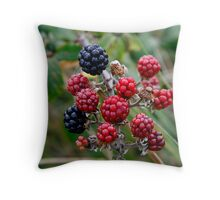 Autumn Blackberries Throw Pillow